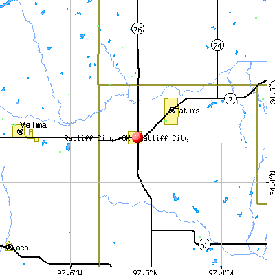 Ratliff City, OK map