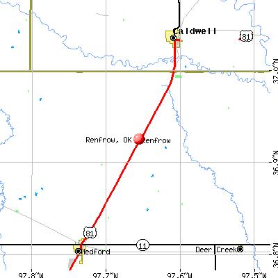 Renfrow, OK map