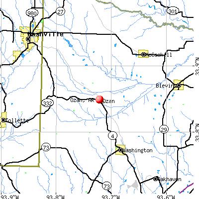 Ozan, AR map