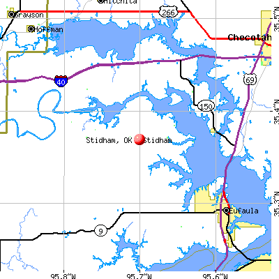 Stidham, OK map