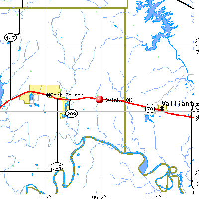 Swink, OK map