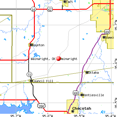Wainwright, OK map