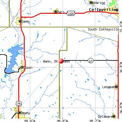 Wann, OK map