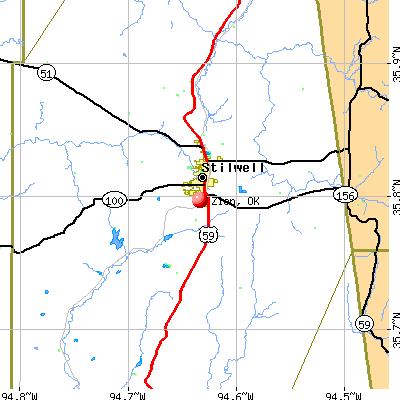 Zion, OK map
