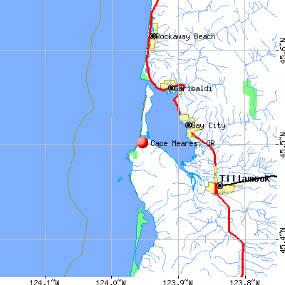 Cape Meares, OR map