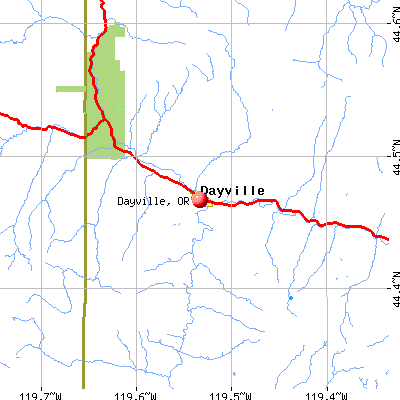 Dayville, OR map