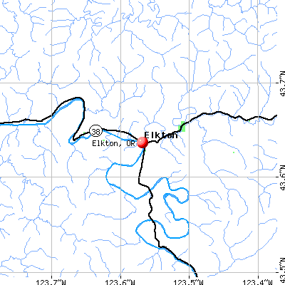 Elkton, OR map