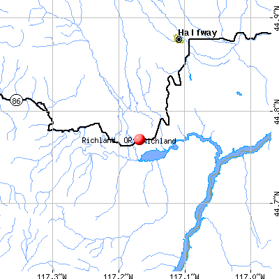 Richland, OR map