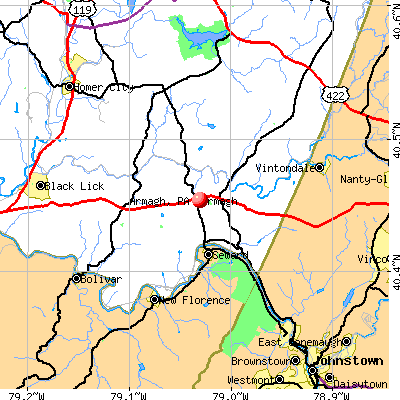 Armagh, PA map