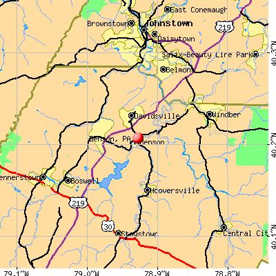 Benson, PA map
