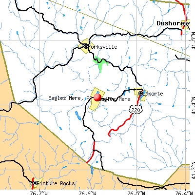Eagles Mere, PA map