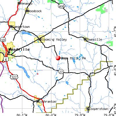 Guys Mills, PA map