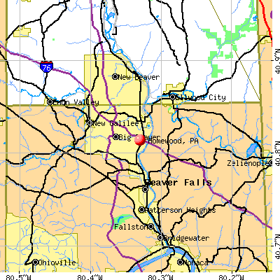 Homewood, PA map