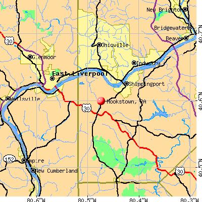Hookstown, PA map