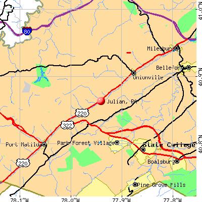 Julian, PA map
