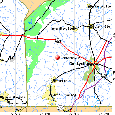 Orrtanna, PA map