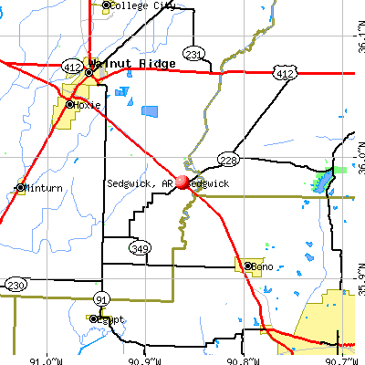Sedgwick, AR map