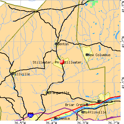 Stillwater, PA map