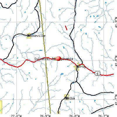 Sylvania, PA map