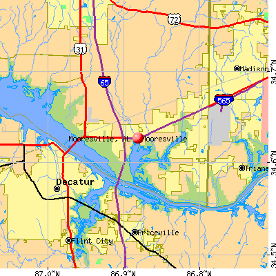 Mooresville, AL map