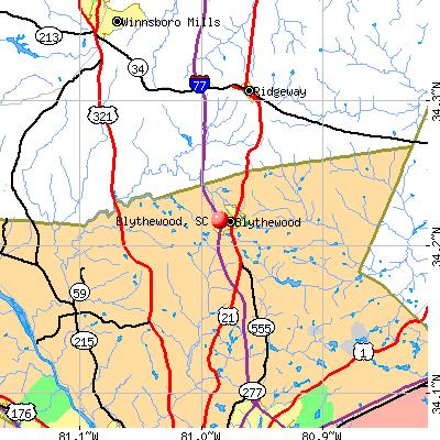 Blythewood, SC map