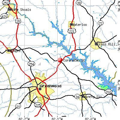 Coronaca, SC map