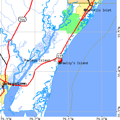 Pawleys Island, SC map