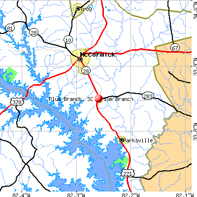 Plum Branch, SC map