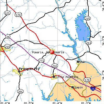 Pomaria, SC map