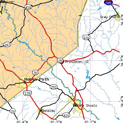 Princeton, SC map