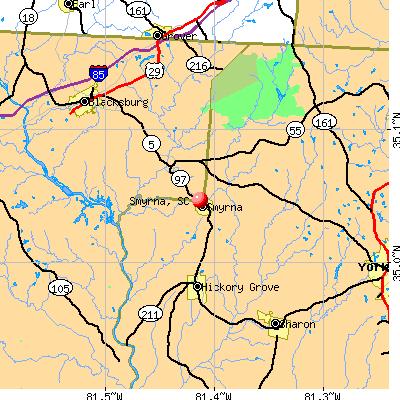 Smyrna, SC map