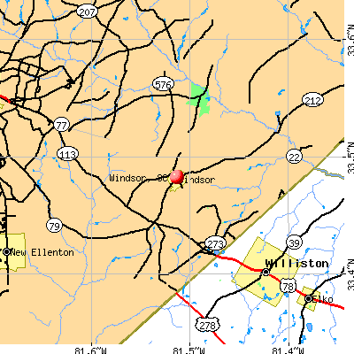 Windsor, SC map