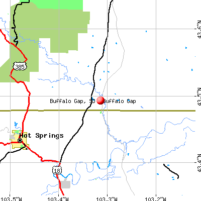 Buffalo Gap, SD map
