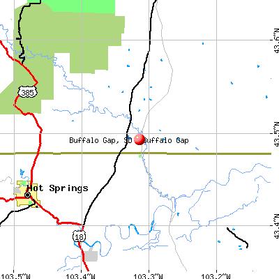 Buffalo Gap, SD map