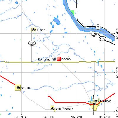 Corona, SD map