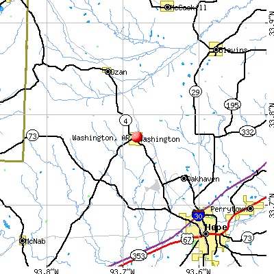 Washington, AR map