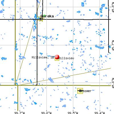 Hillsview, SD map
