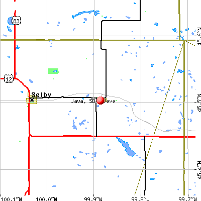 Java, SD map