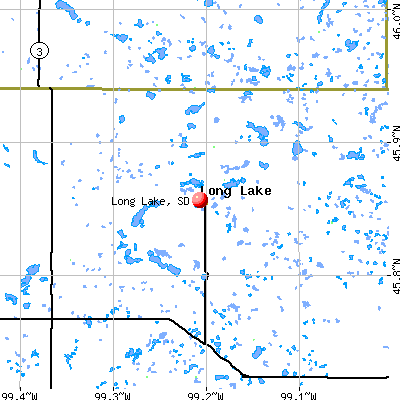 Long Lake, SD map