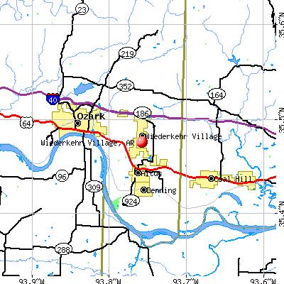 Wiederkehr Village, AR map