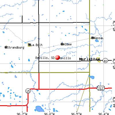 Revillo, SD map