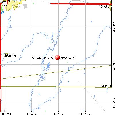 Stratford, SD map
