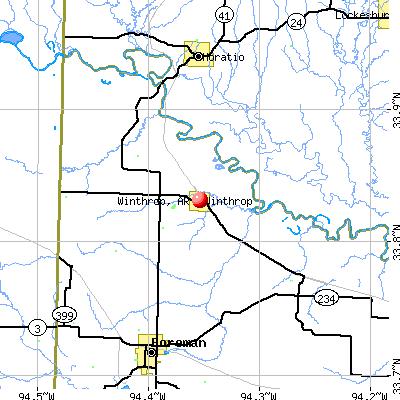 Winthrop, AR map