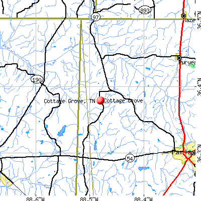 Cottage Grove, TN map