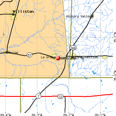 La Grange, TN map