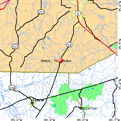 Medon, TN map