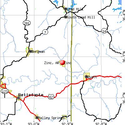 Zinc, AR map