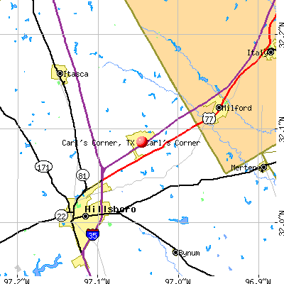 Carl's Corner, TX map