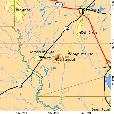 Cottonwood, TX map