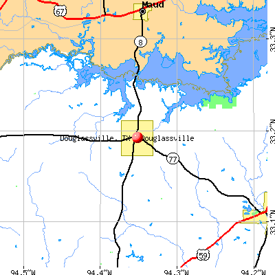 Douglassville, TX map